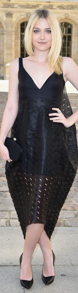 Dakota Fanning at Christian Dior Spring 2015 Front Row