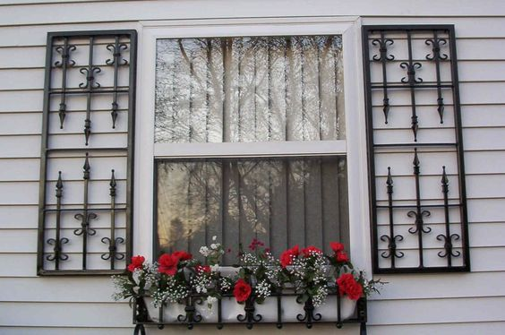 Wrought Iron Shutters For The Home Pinterest Window Boxes Decor And Wrought Iron