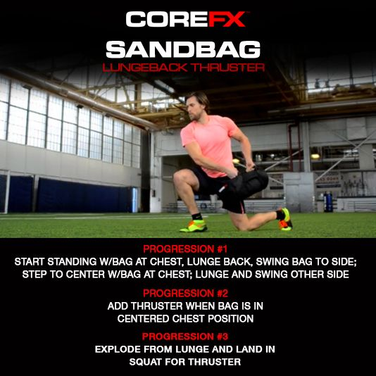 In need of a new exercise? Incorporate the Lungeback Thruster into your workouts! http://vimeo.com/111061987 #COREFX #sandbag #fitness #motivation #exercise #training #workhard #goals #lifestyle #makeithappen #fitfam #healthytalk #success #getfit #gethealthy #healthychoice #youcandoit