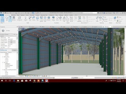 Modeling Roof Wall Sheet In Revit 2019 Youtube In 2020 Corrugated Metal Roof Roof Metal Roof