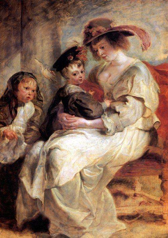 Питер Пауль Рубенс. Елена Фоурман с детьми Клер-Жанной и Франсуа