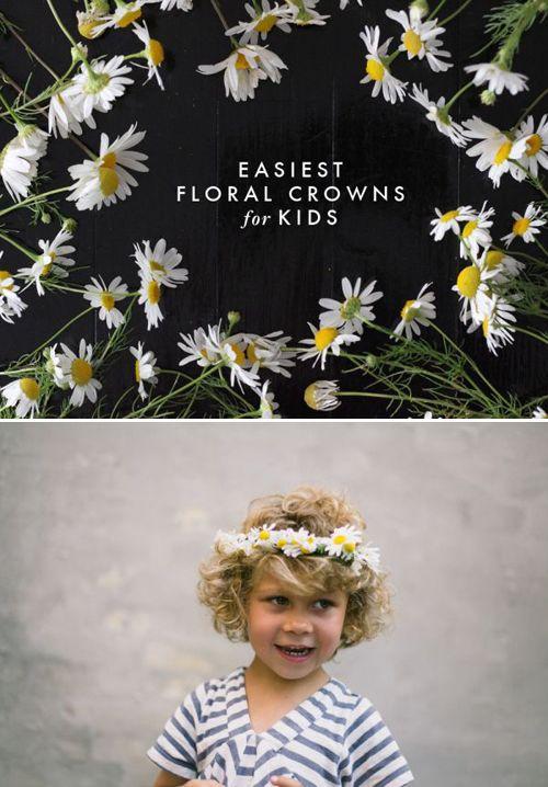 DIY floral crowns: For Kids, Kids Crafts, Crowns Floral, Daisy Crown, Diy Floral, Floral Crowns