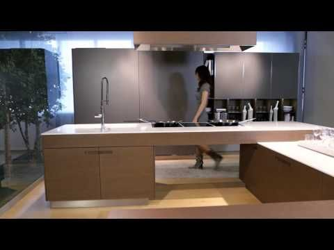 FITTED KITCHEN WITH INTEGRATED HANDLES ASSIM   EUROMOBIL