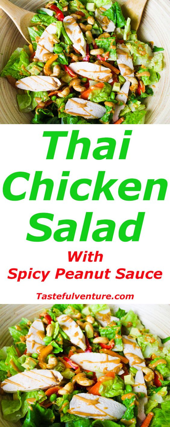 ... spicy thai chicken salad salads sauces thai chicken spicy peanut sauce