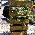 Rustic Pallet Planter