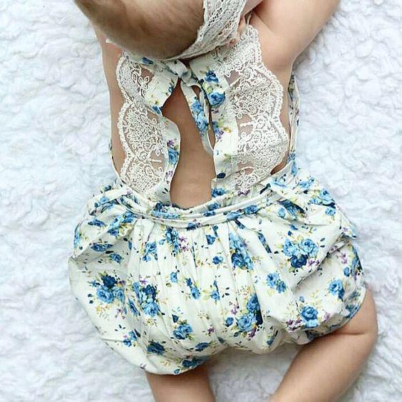 Vintage Lace Jumpsuit Romper Blueberry Pie Children S