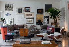 A decoração dramática do apartamento da artista plástica argentina.