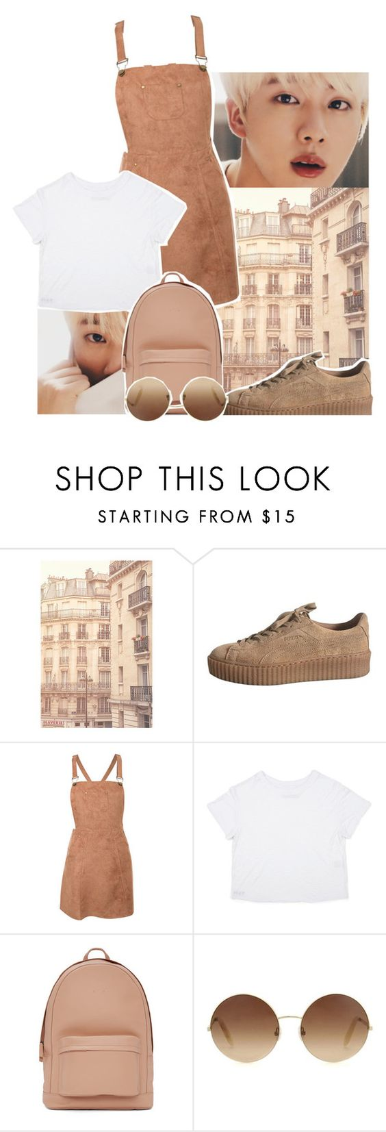 """""""jin brown"""" by bruhkyu ❤ liked on Polyvore featuring WALL, Pilot, PB 0110 and Victoria Beckham"""