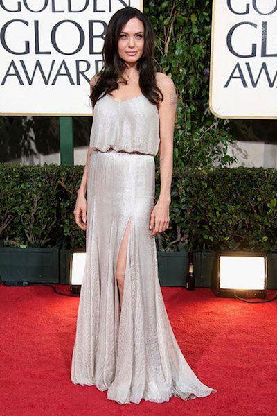 Angelina Jolie in Atelier Versace   10 Best Golden Globe Dresses   Camille Styles