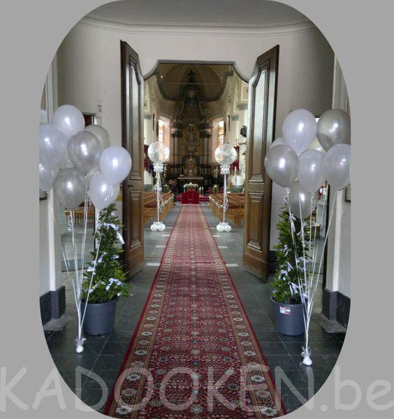 Kerk decoratie huwelijk ballonnen trouw ballons for Ballonnen versiering zelf maken