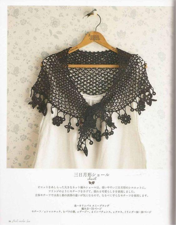 Irish Crochet Lace Shawl Pattern : ISSUU - Irish crochet lace by vlinderieke Crochet shawl ...
