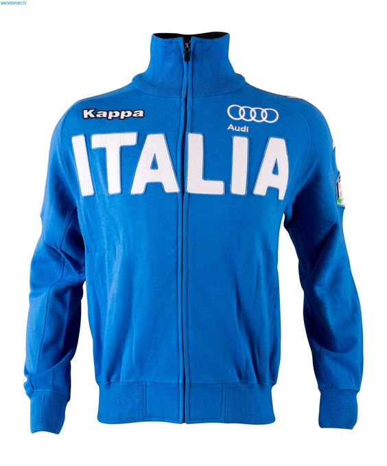 Kappa Men Italian Alpine FIS Badges Team Sweater - Azzurro