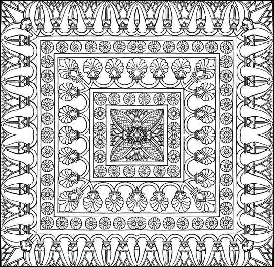 teppich coloring pinterest perser teppiche und f rben. Black Bedroom Furniture Sets. Home Design Ideas