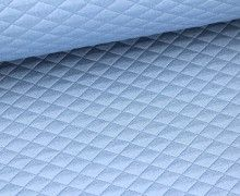 Viscose fabric - quilting - diamonds - Light Blue