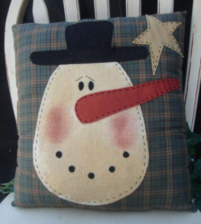 Christmas Star Snowman Applique Wallhanging Quilt Block Free