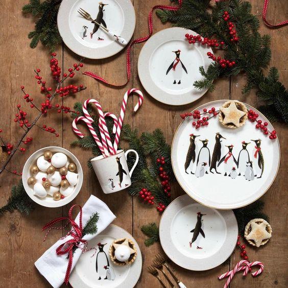 Pin By Mcelhinneys On Mcelhinneys Instagram Christmas Tableware Holiday Serveware Christmas Penguin