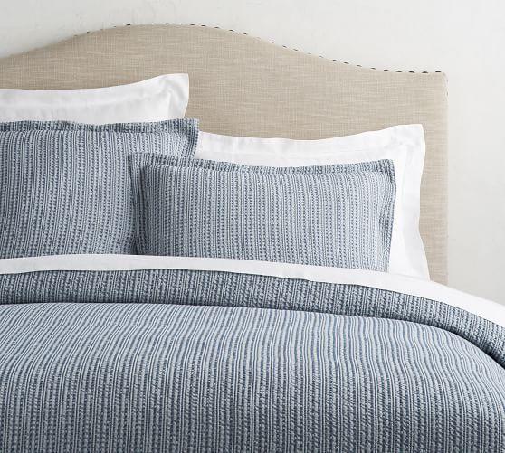 Honeycomb Cotton Duvet Cover Shams Midnight In 2020 Duvet Covers Cotton Duvet Cover Bed
