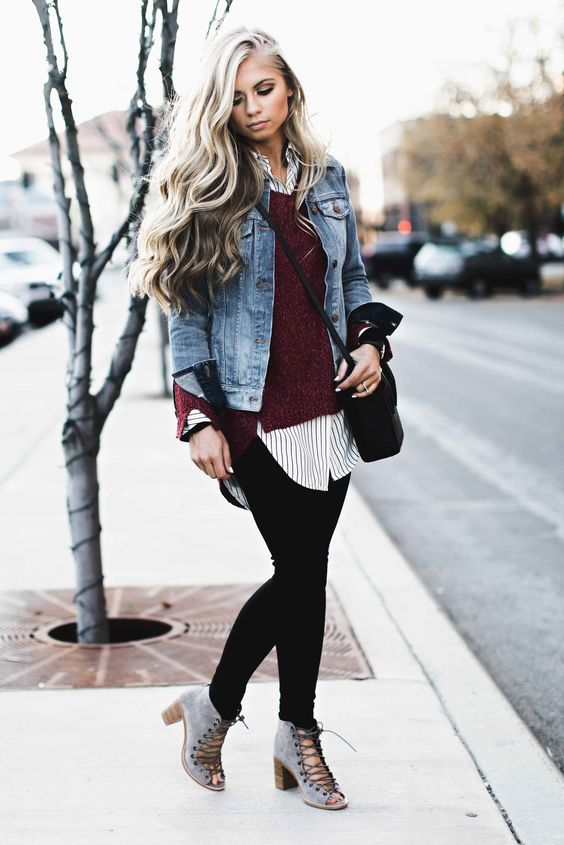 Layered | Pinterest | Wavy hair Fall styles and Street style fashion