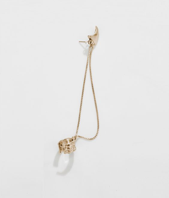 THE SOURCE ear cuff  gold plated  $89.99