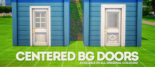 Two Base Game Doors Centered On 3 Tiles Pretty Much All The Build Cc I Own Are Just Plasticbox S 2 Tile And Sims House Plans Sims 4 Custom Content Sims 4 Build