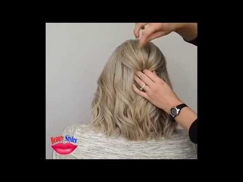 Deux Coiffures Courtes Tres Elegantes Pour Les Cheveux Moyens Et Courts Youtube In 2020 Hair Styles Short Hair Styles Medium Hair Styles