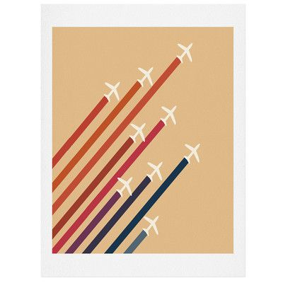"""East Urban Home 'Aerial Display' by Budi Kwan Graphic Art Size: 14"""" H x 11"""" W x 0.13"""" D"""