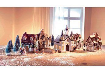 Set: Weihnachtsdorf (17tlg.),