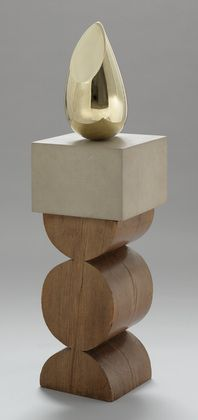 Constantin Brancusi, Young Bird, Paris, 1928. Bronze on a two-part pedestal of limestone and oak