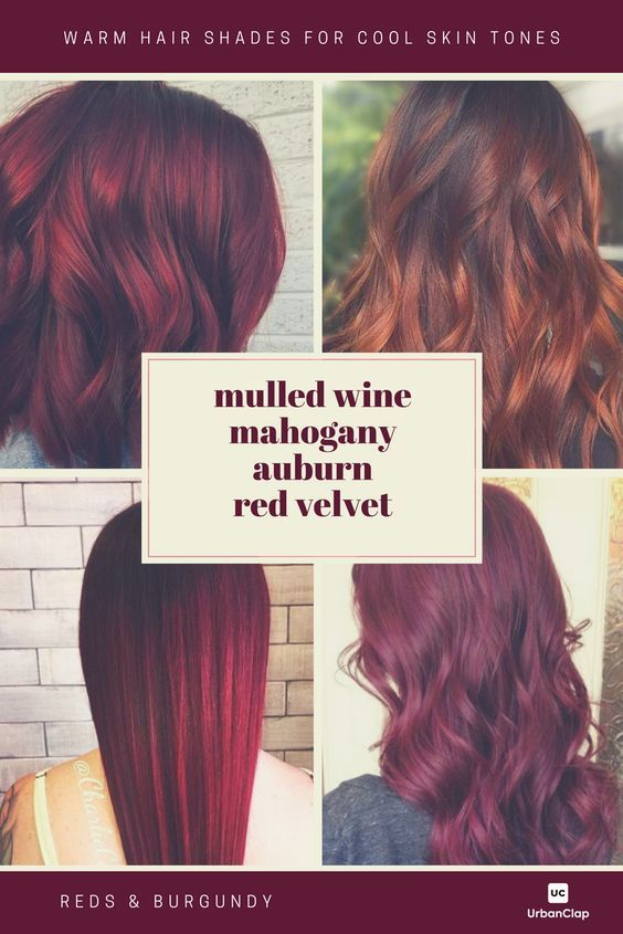 Warm Red Hair Colour Shades For Cool Skin Tones When Selecting A Red Hair Color Shade Reme Warm Hair Color Hair Color Burgundy Hair Color For Warm Skin Tones