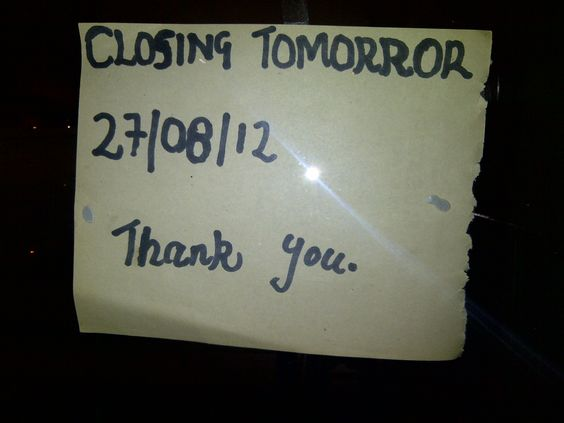 Closed 2moro (I took the short cut)