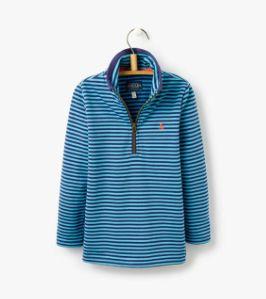 Joules Boys Dale Sweatshirt - Blue Print Stripe