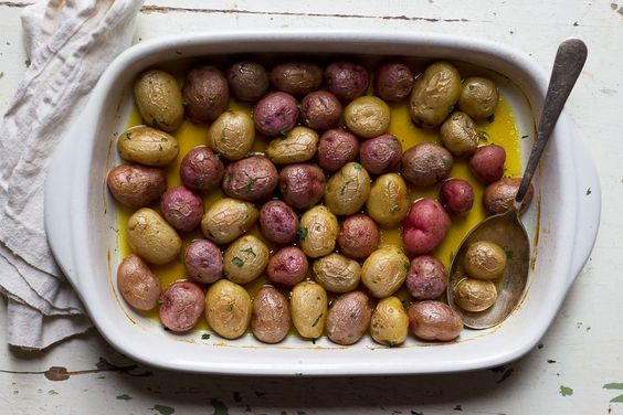 Roasted Potatoes with Saffron and Stock