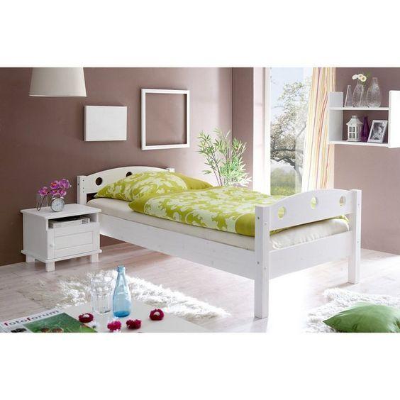 Einzelbett Rena Kiefer Massiv Weiss Einzelbett Mit Bettkasten Einzelbett Kinderzimmer Weiss