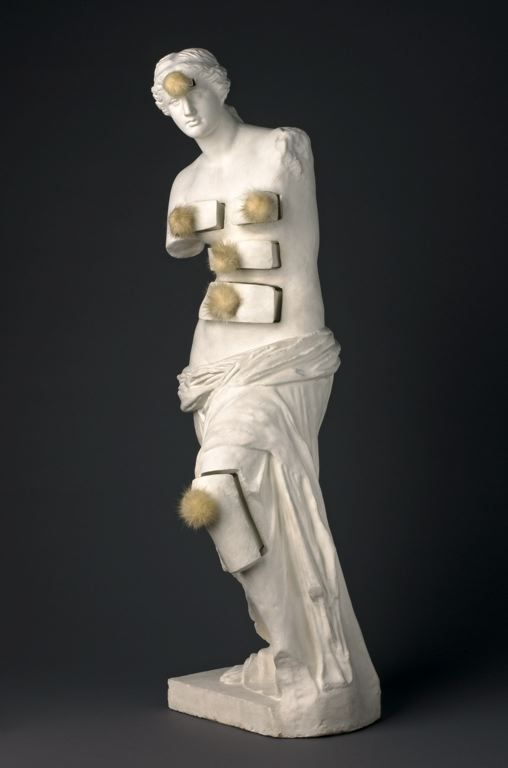 Salvador Dalí / Venus de Milo with Drawers / 1936 / painted plaster with metal pulls and mink pompons