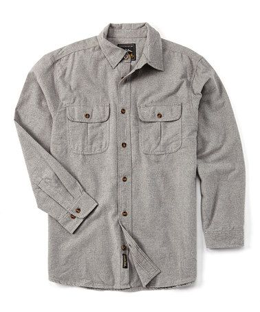 Loving this Heather Gray Chamois Button-Up on #zulily! #zulilyfinds