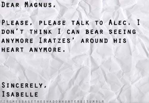 Malec, Imaginary letter... I still hope for a happy end for them somehow...