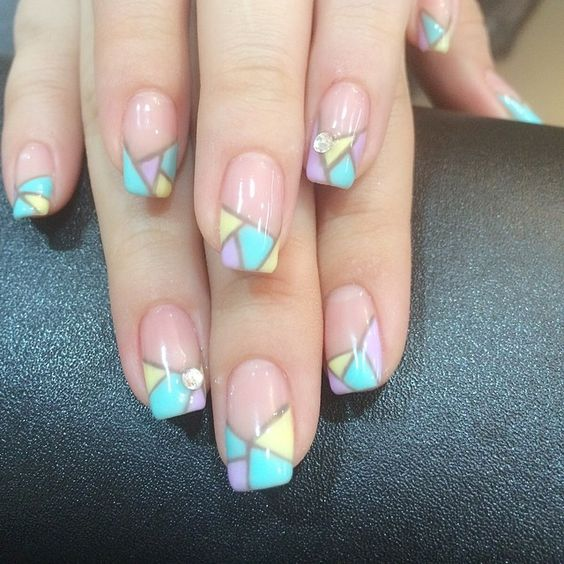 Stained Glass Nail Art: Colorful Stained Glass Nail Designs