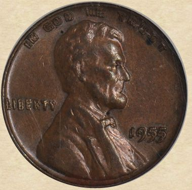 1955 Lincoln Cent Double Die Obverse: Abraham Lincoln, Coin Collection, America Coin, Coin Collecter, Coin Collecting, 1955 Lincoln, Bills Banknotes Coins, Coin Treasures