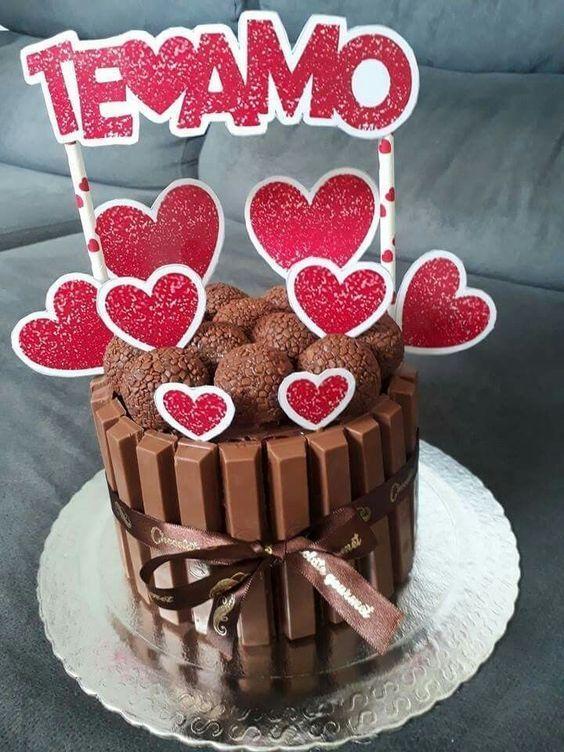 Bolos Decorados Para Dia Dos Namorados Valentines Food Cake