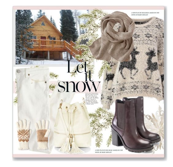 """Let it snow!"" by artemisia-art ❤ liked on Polyvore featuring J.Crew, Dot & Bo, Isotoner, women's clothing, women, female, woman, misses and juniors"