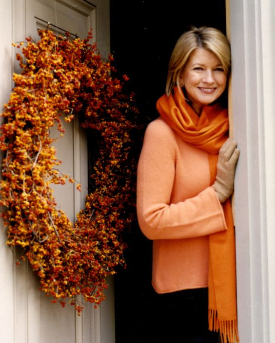 "Knock! Knock! It's a style makover here to make a house call. The first point of business: your entrance. Browse our ideas for creative wreaths, festive monograms, and decorative displays to make your door more welcoming just in time for autumn!   Bittersweet Autumn Wreath   Is there anything more glorious than the rich colors of autumn? For the same reason, your visitors will just ""fall"" in love with this wreath made from bundles of bittersweet."
