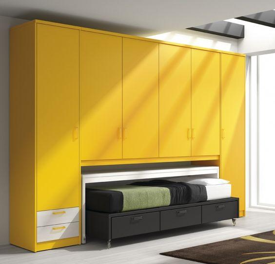 Youth bedroom dormitorio juvenil con altillos armario for Muebles arasanz