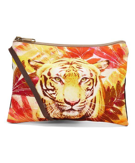 Bright Yellow Tiger Horizontal Crossbody Bag