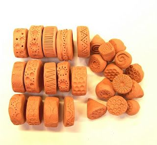 How to make clay rollers and stamps.