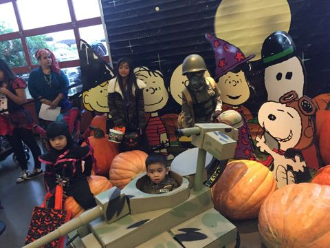 Halloween Costume Shop st vincent de paul in lincoln heights is crammed with on sale costumes and Bass Pro Shop Halloween Trick Or Treat Picture With The Cousins Manteca Ca Cardboard