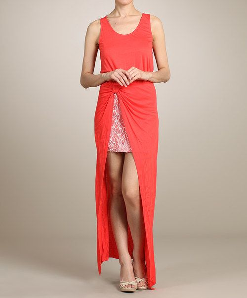 Look at this Lovposh Red Gathered-Layer Maxi Dress on #zulily today!