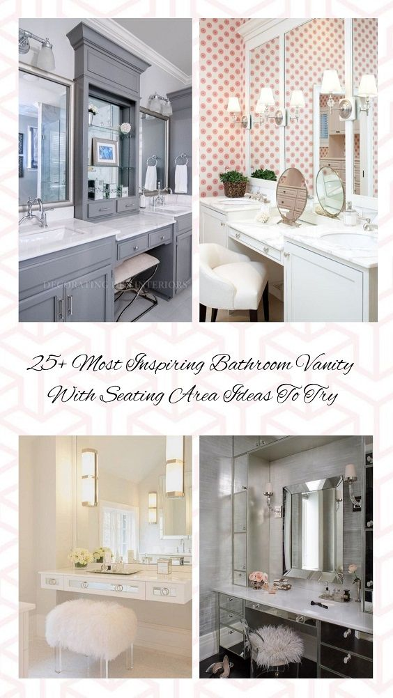 25 Most Inspiring Bathroom Vanity With Seating Area Ideas To Try