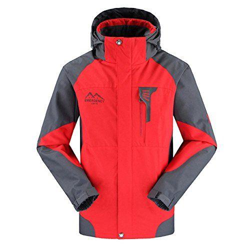 Climbing-Amurleopard Men's Sportwear Windbreaker Jackets Red L *** Continue to…