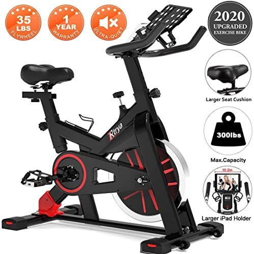 Best Seller Trya Spin Bike Belt Drive Indoor Cycling Bike Stationary Ipad Mount 35 Lbs Flywheel Workout Bike Home Cardio Gym Comfortable Seat Cushion Onlin In 2020 Biking Workout Indoor Cycling