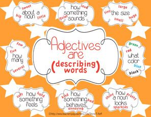 This Adjectives Poster Is A Great Classroom Resource To